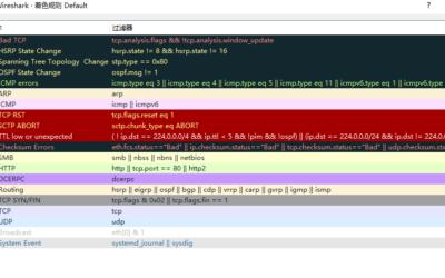 网络分析系列之九_Wireshark基础设置(一)